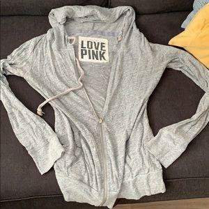 Victoria's Secret pink zip up sweatshirt